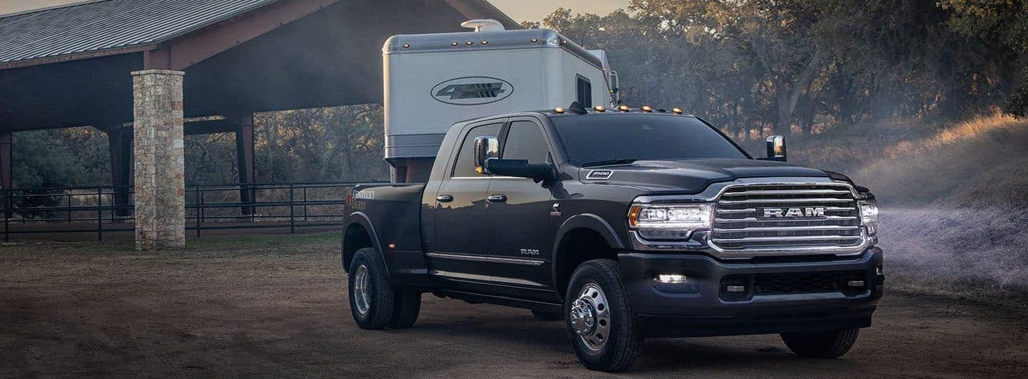 2019 Ram 3500 Towing a Horse Trailer