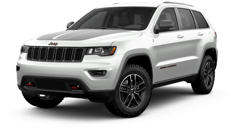 2019 White Jeep Grand Cherokee