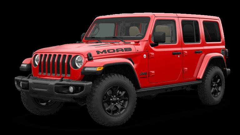 2019 Orange Jeep Wrangle Moab