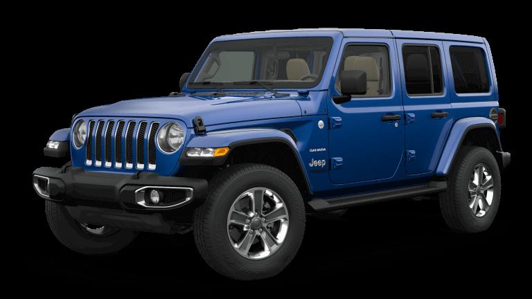 2019 Orange Jeep Wrangle Sahara