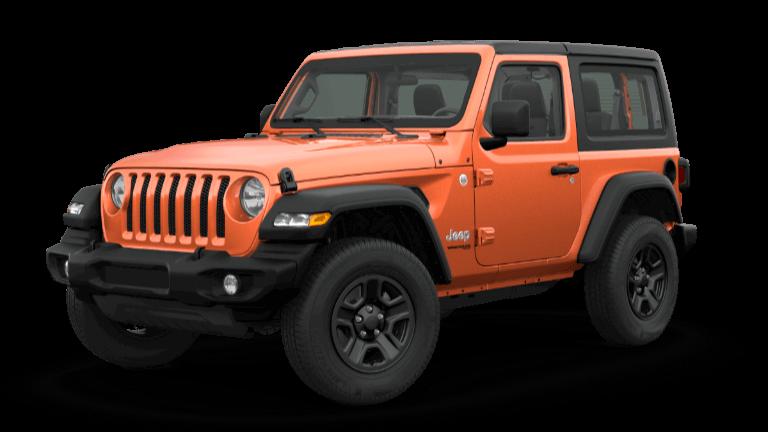 2019 Orange Jeep Wrangle Sport