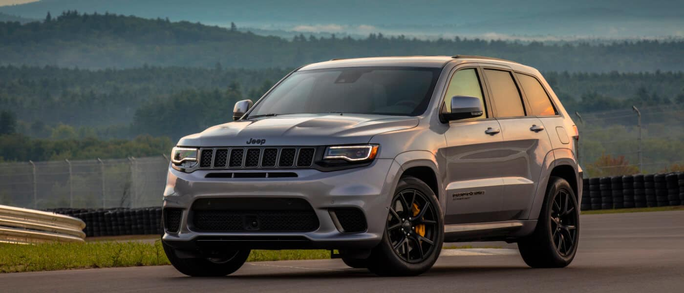 2020 Silver Jeep Grand Cherokee Parked