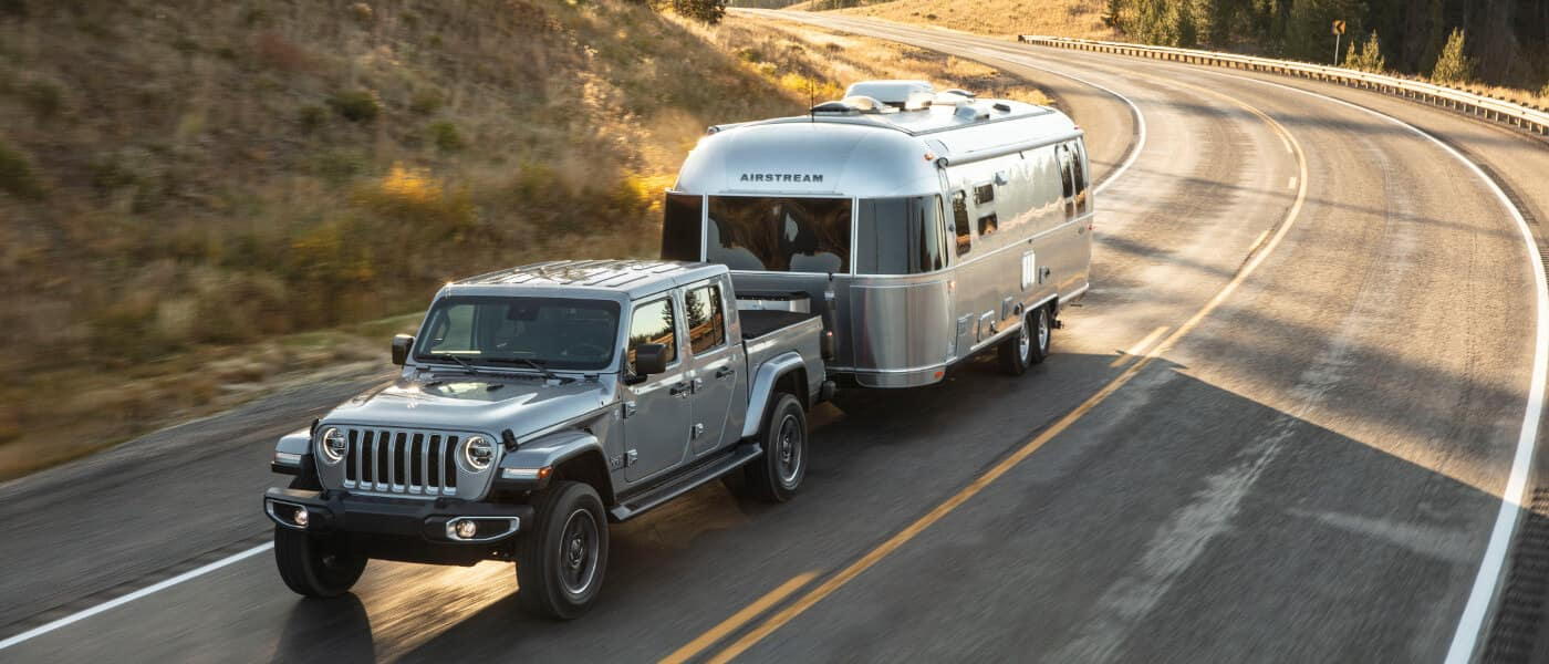 2020 Jeep Gladiator Towing an Airstream