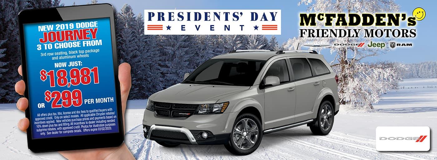 2019 Dodge Journey Presidents Day