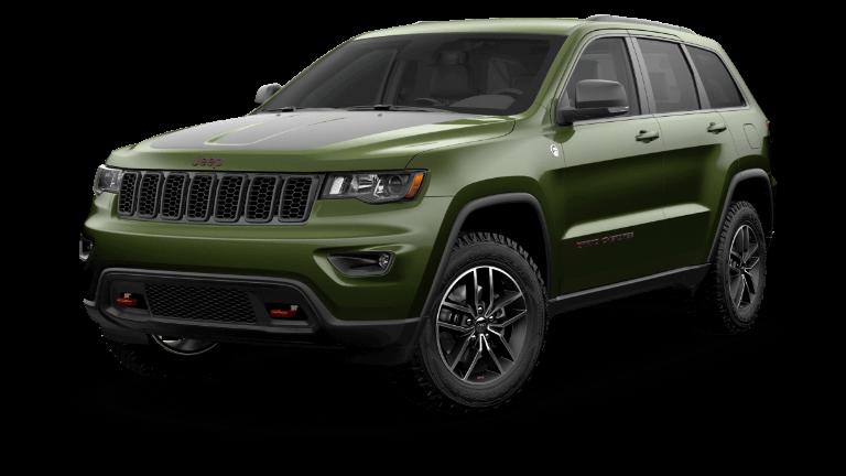 2020 Green Jeep Grand Cherokee Trailhawk