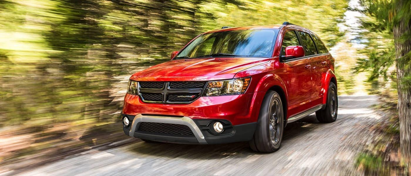 2020 Red Dodge Journey Driving