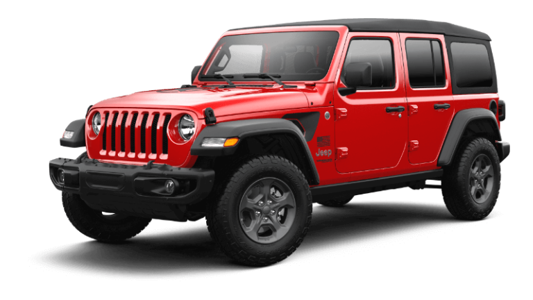 2020 Jeep Wrangler Freedom - Fire Cracker Red