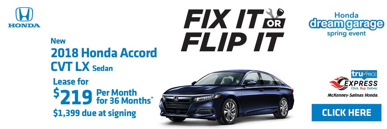 Flip your 2018 Honda Accord at MS Honda.