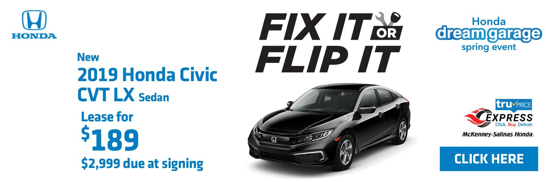 Lease the 2019 Honda Civic Sedan near Charlotte.