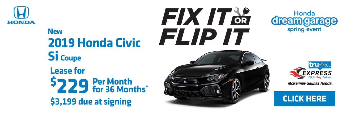 Lease the 2019 Civic Si Coupe.