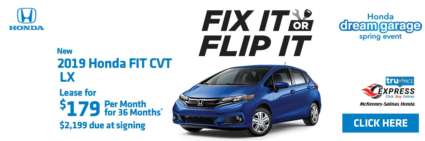The 2019 Honda Fit for lease near Charlotte, NC.