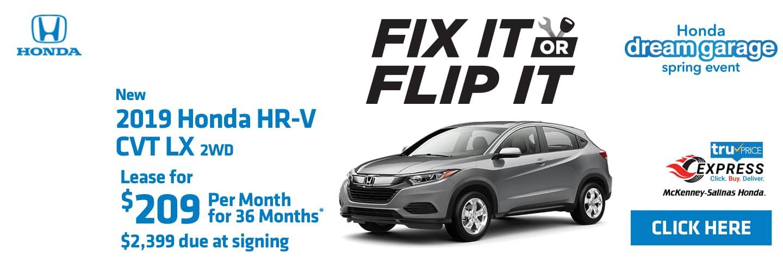 2019 Honda HR-V for lease near Charlotte.