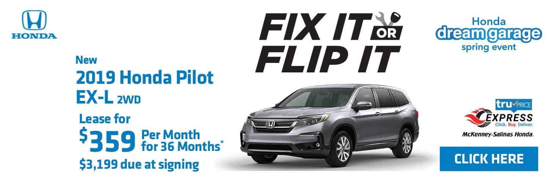 Lease the 2019 Honda Pilot near