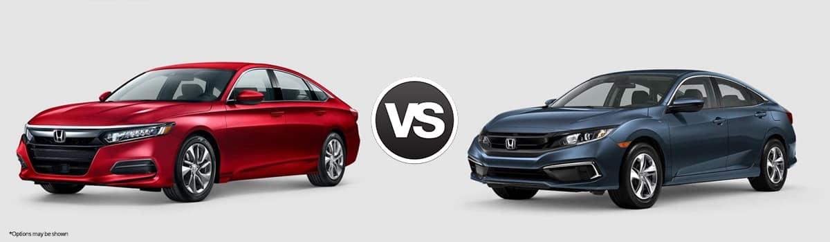 2020 Honda Accord vs Honda Civic
