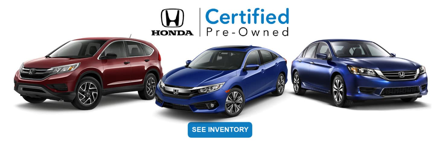 Columbia Honda Certified PreOwned Slider