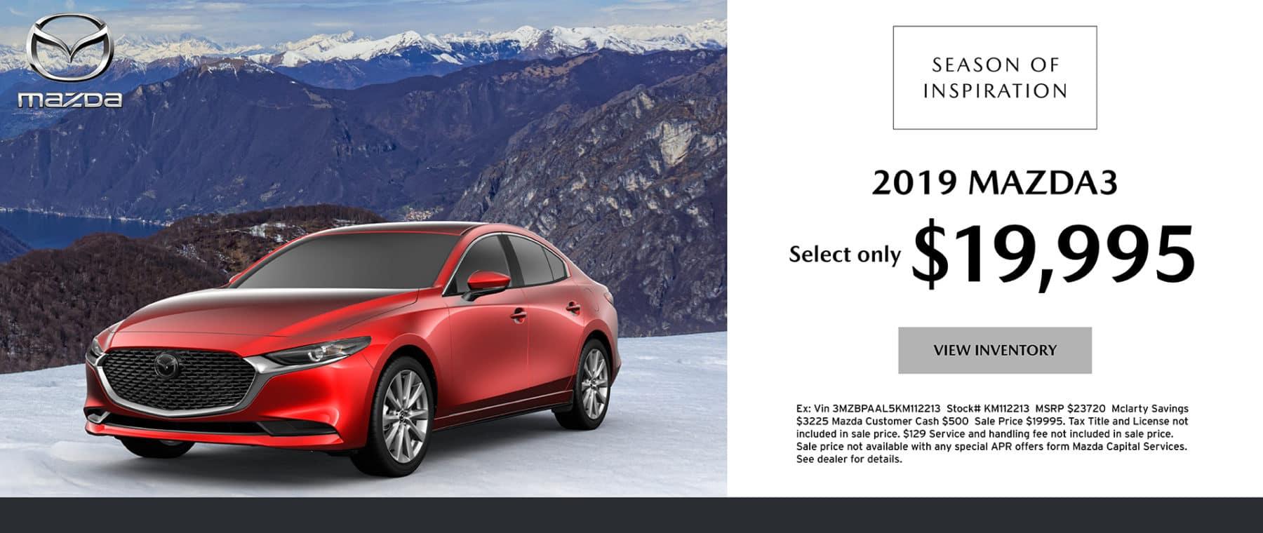 2019 Mazda3 Special