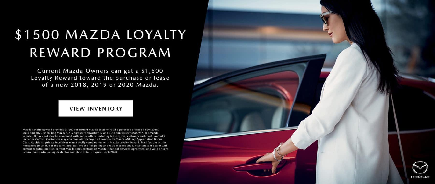 $1500 Mazda Loyalty Rewards Program