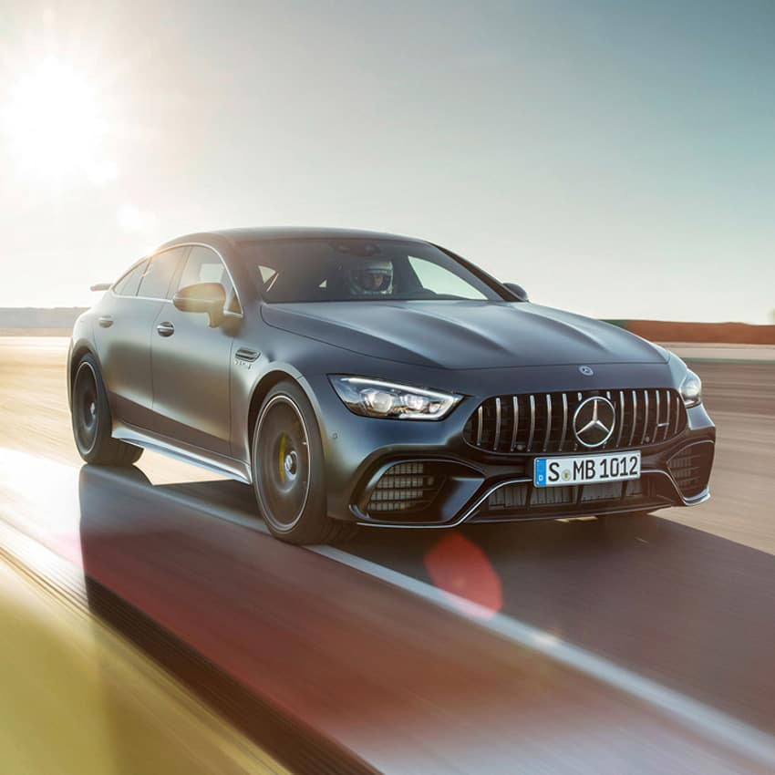 2019 AMG GT driving on track