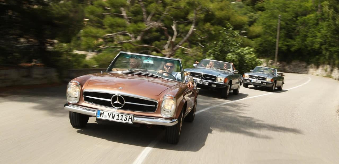 Mercedes-Benz Classic Car Travel Tours SL