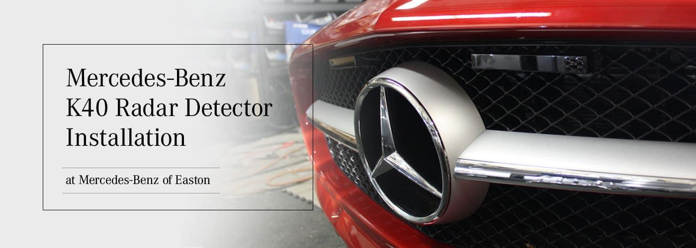 K40 Radar Detector Installation - Mercedes-Benz of Easton