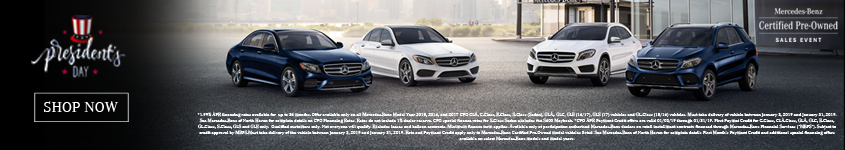 CPO Presidents Day Sales Event Homepage Banner