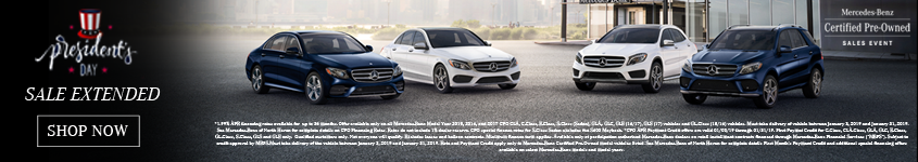 Extended CPO Presidents Day Sales Event Homepage Banner