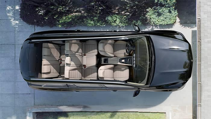 Mercedes-Benz GLS Interior Looking Down