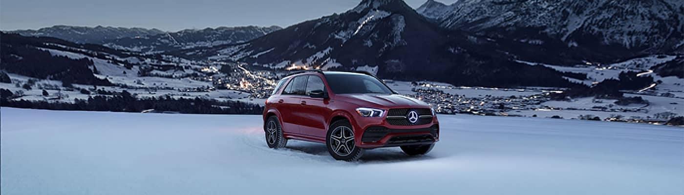 Mercedes-Benz Parked in Snow
