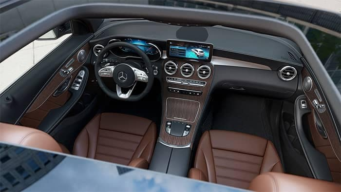 Mercedes-Benz GLC Interior From Sunroof View