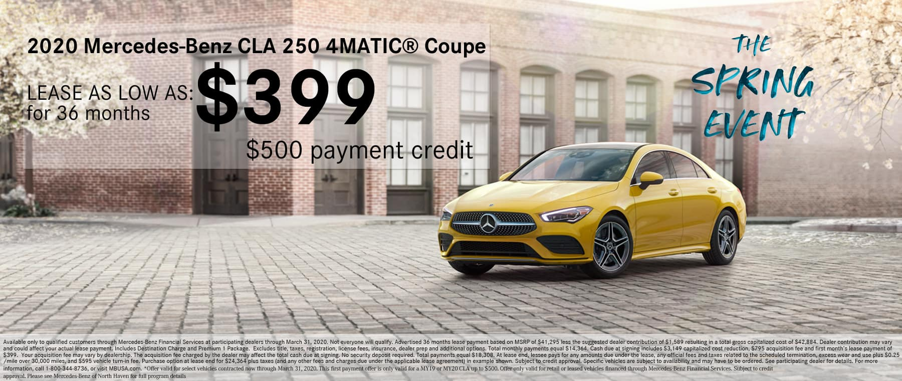 Mercedes-Benz of North Haven CLA Lease Special