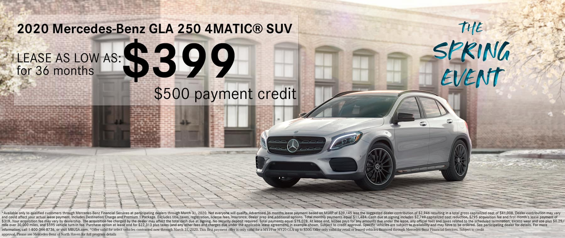 Mercedes-Benz of North Haven GLA Lease Special