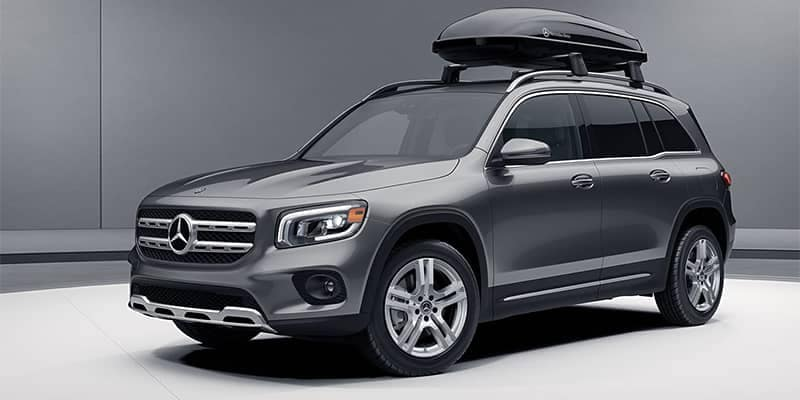 Mercedes-Benz GLB with Roof Box