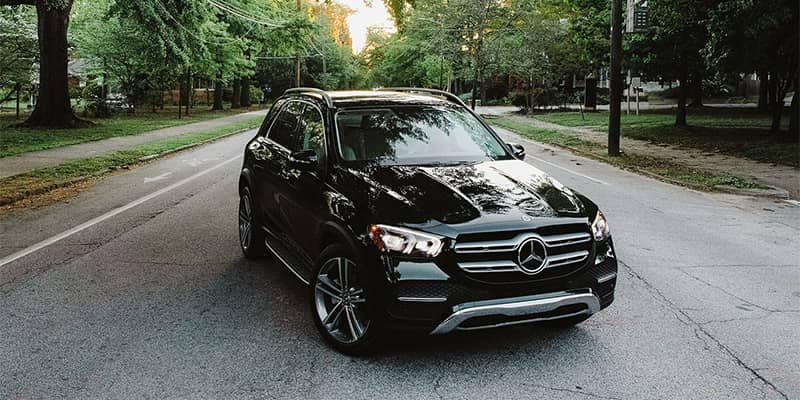 Mercedes-Benz GLE Driving Through Neighborhood