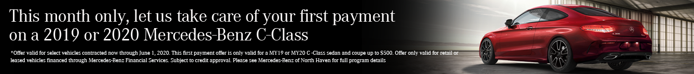 C-Class First Month Payment Credit Banner