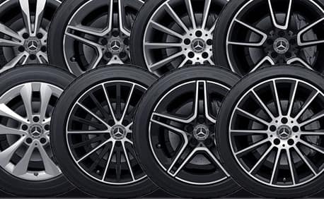 Eight wheel options show how you roll.
