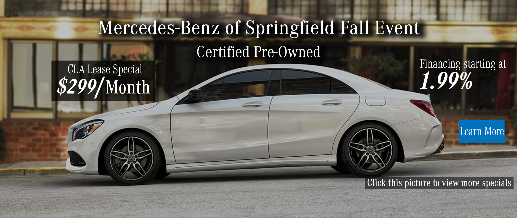 CPO Fall Event - CLA Lease starting at $299 and 1.99% APR