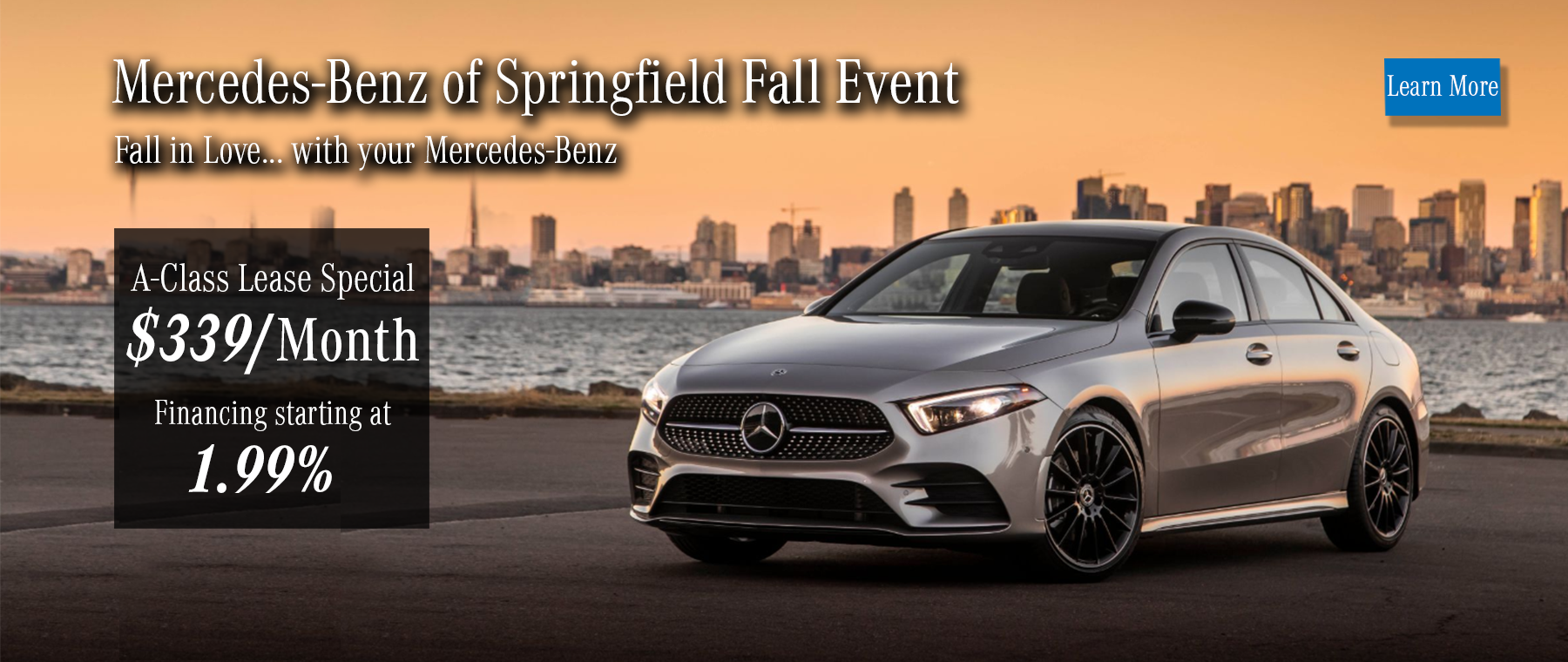 A-Class Fall Event - Starting at $339 lease and 1.99% APR