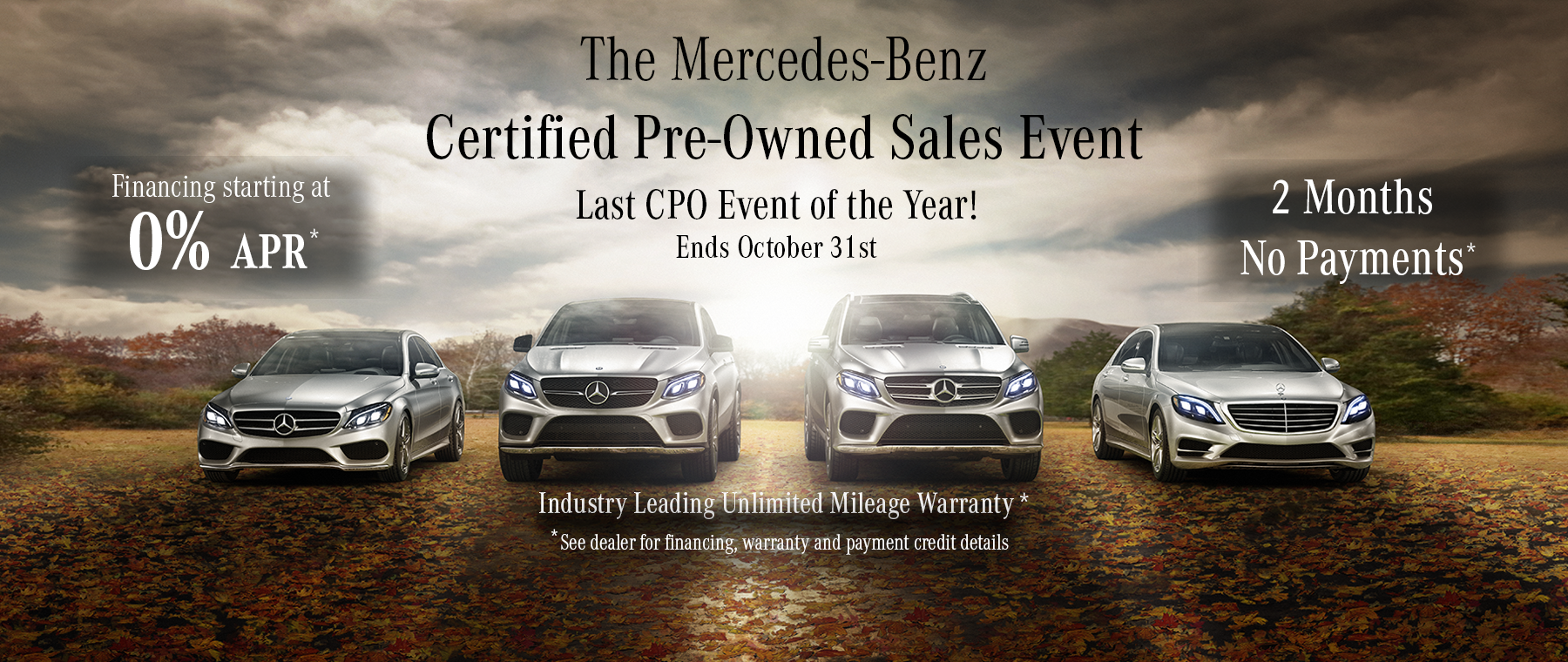 CPO Vehicles - Financing at 0% APR and 2 Months No Payment