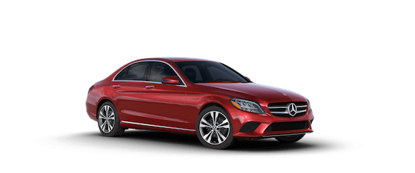 2020 Mercedes-Benz C 300 in designo Cardinal Red Metallic