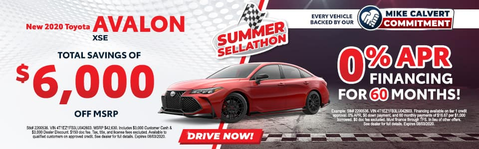 New 2020 Toyota Avalon XSE 4dr Car FWD