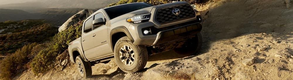 Toyota Tacoma Off-Roading on Rocks