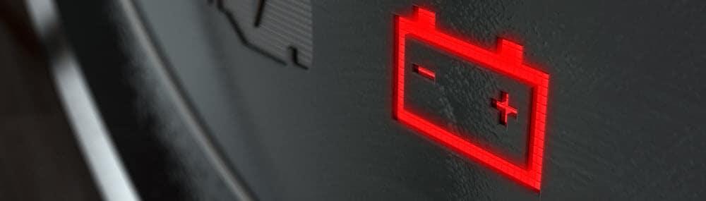 Battery Icon Illuminated Dashboard Light