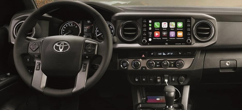 Toyota Tacoma Interior Dashboard with Apple CarPlay® Integration