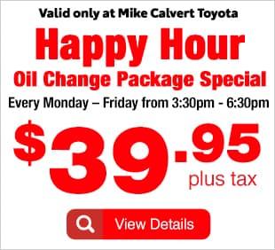 Happy Hour Oil Change Special Houston TX
