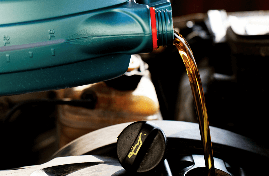 Pouring New Engine Oil