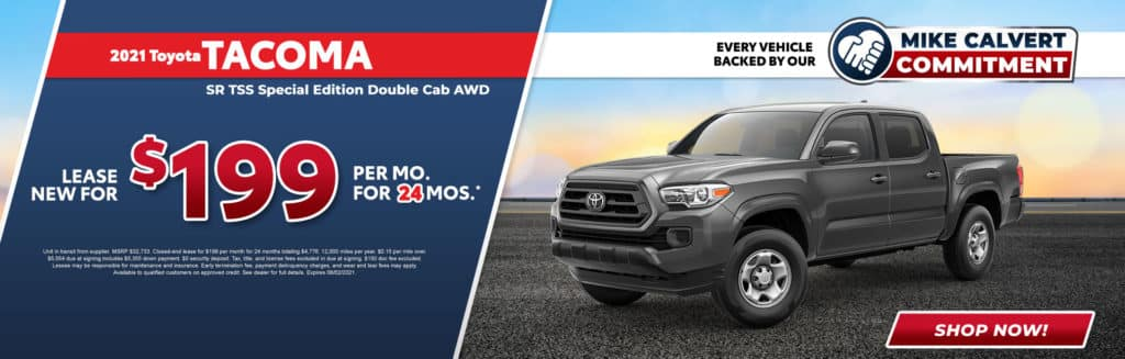New 2021 Toyota Tacoma TSS Special Edition Double Cab AWD