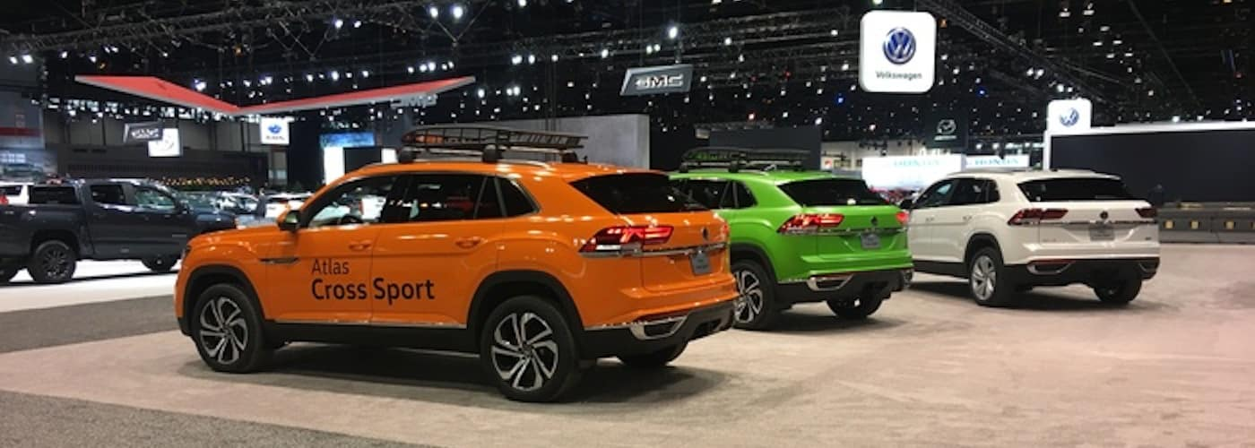 VW cars at auto show