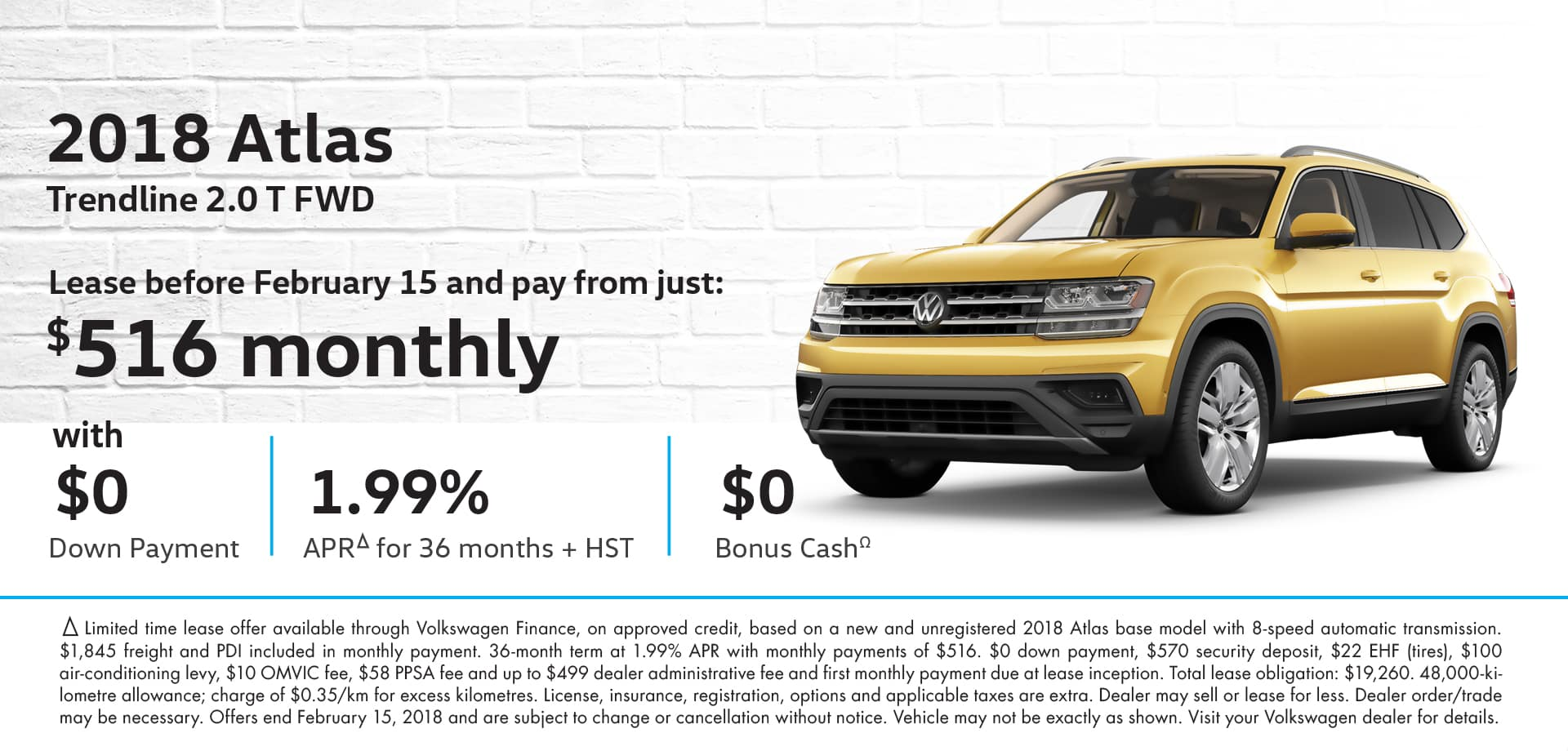 VW Atlas Special Promotion