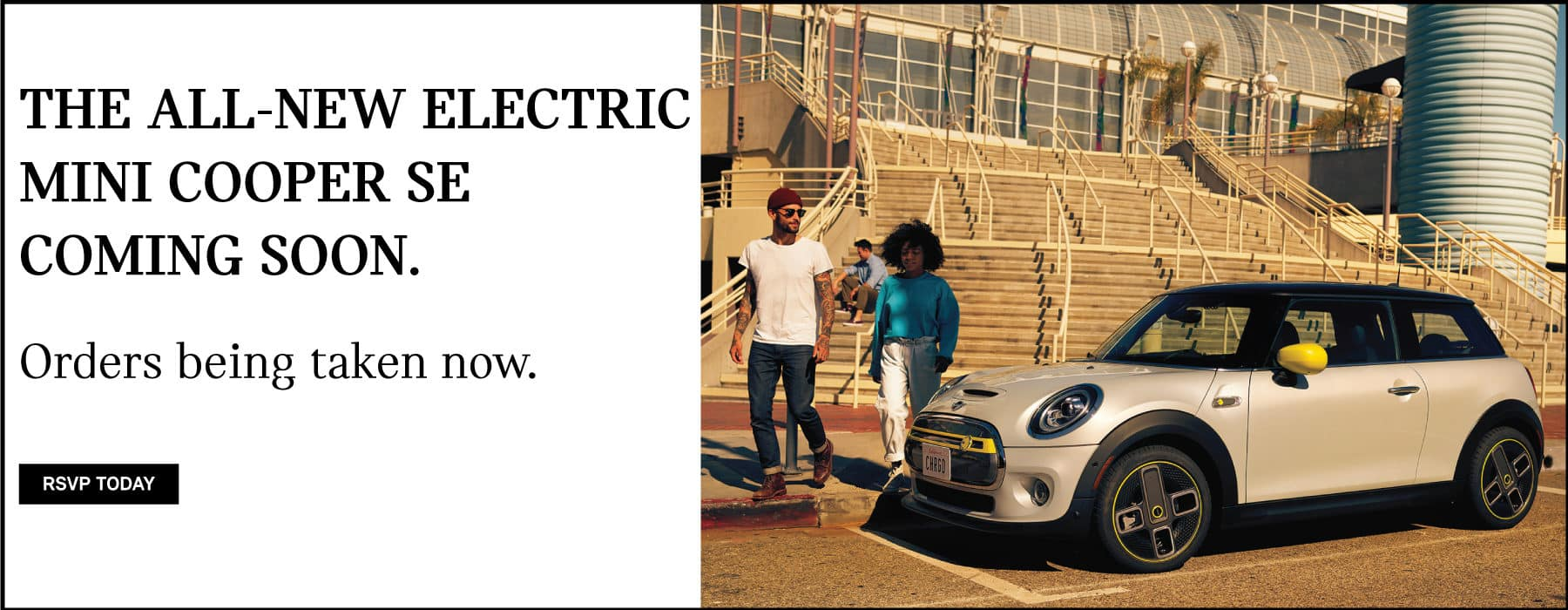 THE ALL NEW ELECTRIC MINI COOPER SE COMING SOON. Orders being taken now. Click to RSVP today.
