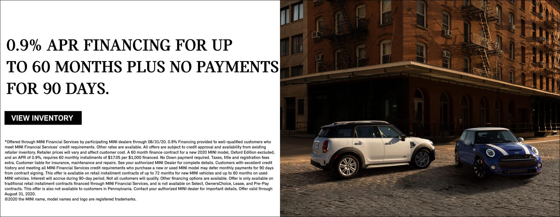 0.9% APR FINANCING FOR UP TO 60 MONTHS PLUS 90 DAYS TO FIRST PAYMENT